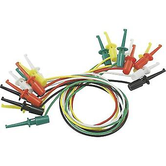 VOLTCRAFT Test leiden kit [Terminals - Terminals] 0,28 m zwart, rood, groen, geel en wit