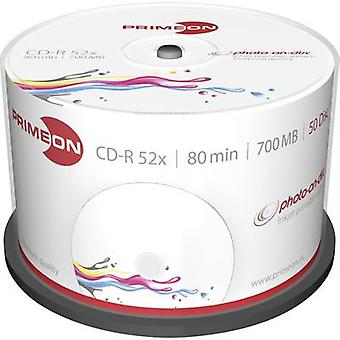 Primeon 2761105 Blank CD-R 80 700 MB 50 pc(s) Spindle Printable