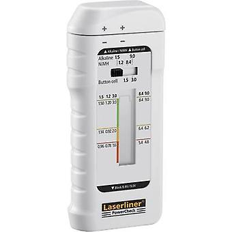 Laserliner batteriet tester PowerCheck Reading utvalg (batteri testere) 1.2 V, 1,5 V, 3 V, 9 V oppladbart, batteri 083.006A