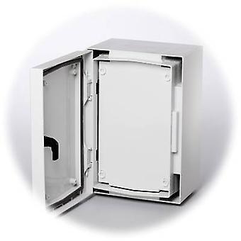 FIBOX 8274030 FP 4030-D placa dianteira plástica fechada (L x W) 379 mm x 262 mm cinzento-branco (RAL 7035)