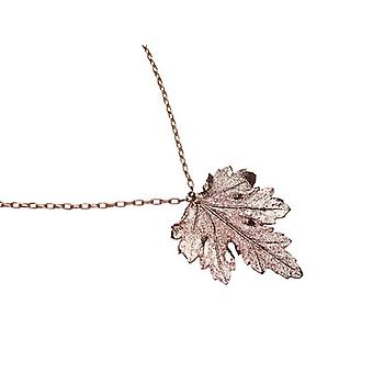 Leaf chain electro plated Chrysanthemum leaf necklace gold plated