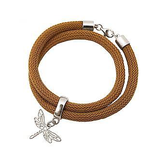 -Браслет браслет - 925 серебро - стрекоза - коричневый