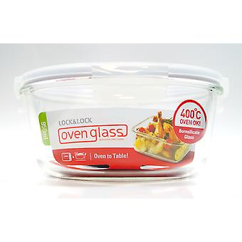 Lock & Lock Ovenglass 950ml Round Glass Container