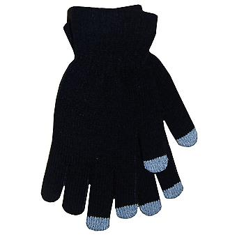 Boss Tech Touch Screen Gloves (Preto com dicas cinza)