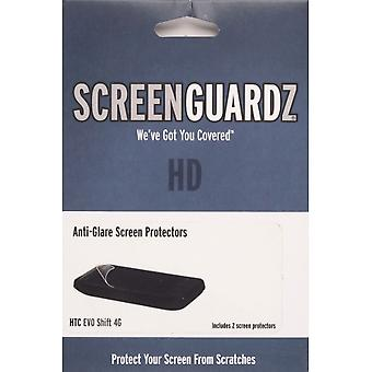 HTC EVO Shift 4G için BodyGuardz Parlama Önleyici ScreenGuardz+HD Ekran Koruyucusu (2 paket)
