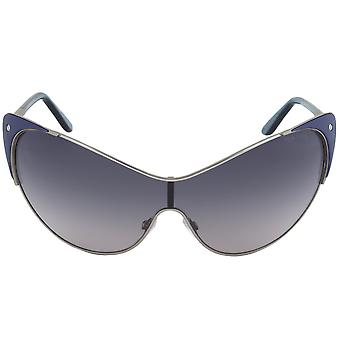 Tom Ford Vanda Cateye Sunglasses FT0364 89W   Gunmetal and Indigo Frame   Grey Gradient Lens