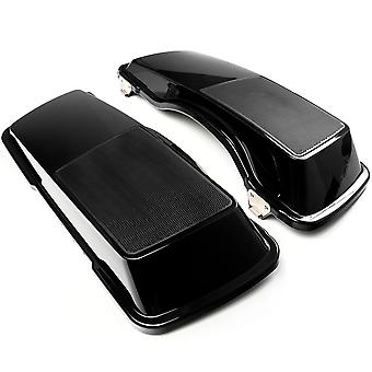 "Saddlebag Dual 6""x9"" Speaker Lids Mesh Covers Compatible with 1993-2013 Harley Davidson Street Glide Saddle Bags"
