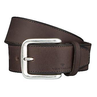 Jeans ceintures de hommes ceintures en cuir TOM TAILOR ceinture ceinture marron 4362