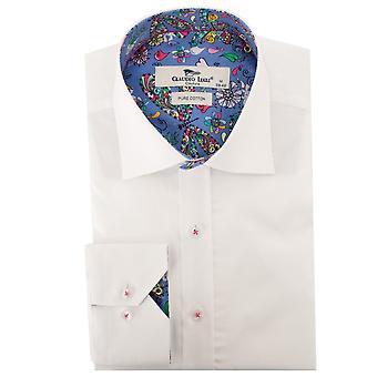 كلاوديو لوجلي القلوب وزهرة تقليم قميص رجالي