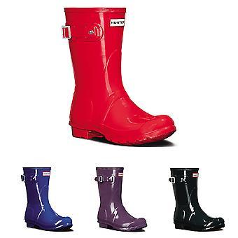 Womens Hunter Original Short Gloss Snow Rubber Wellington Waterproof Boot UK 3-9