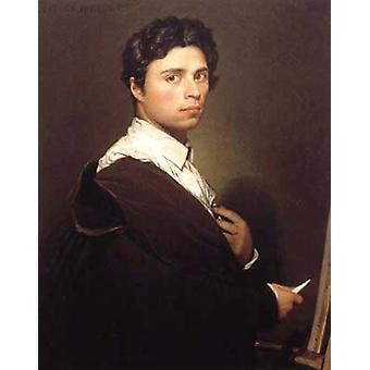 صورة ذاتية في Easel, جان أوغست دومينيك إنغريس