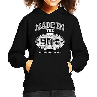 Made In 90s All Genuine Parts Kid's Hooded Sweatshirt