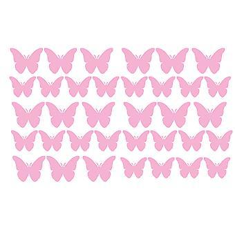 Pack Of 35 Vinyl Butterfly Butterflies Stickers