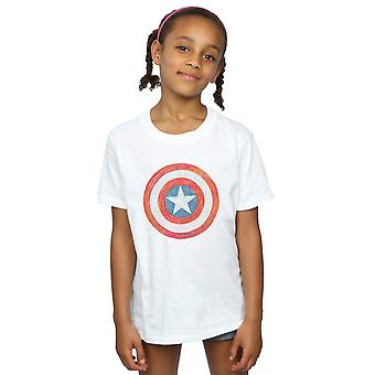 Marvel flickor Captain America skissade Shield T-Shirt