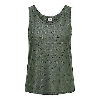 JDY pitsi kuvio toppi Jersey paita Hihaton alusvaatteet rento naisurheilu