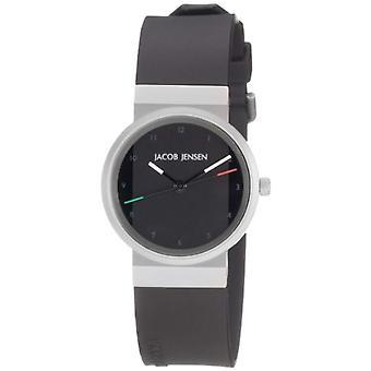 Jacob Jensen Analog quartz women's watch with rubber strap 742s