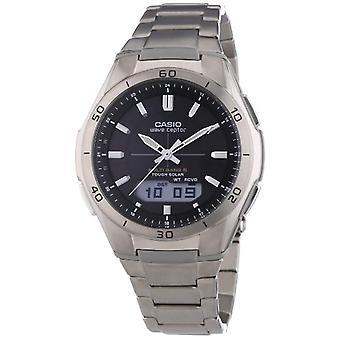 Casio analoog-digitaal horloge quartz mannen titanium band WVA-M640TD-1AER
