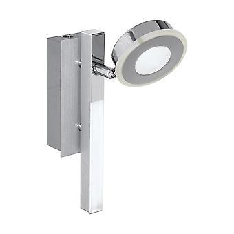 Eglo - Spot à LED Cardillio Chrome réglable et barre lumineuse mur montage EG95996