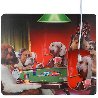 USB mouse and mouse pad Poker