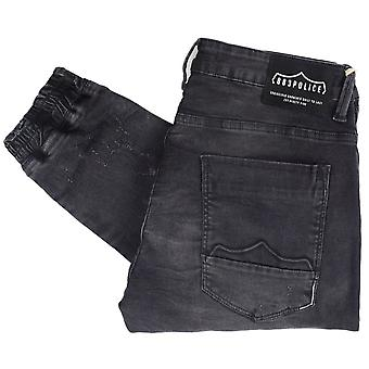883 Police Moriarty Black Faded Combat Slim Fit Jeans