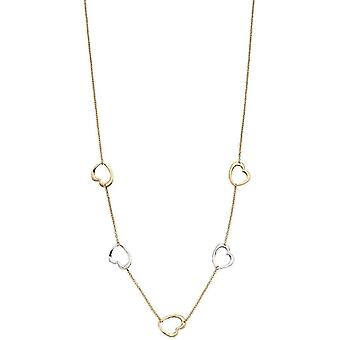 Elements Gold Heart Necklace - Gold/Silver