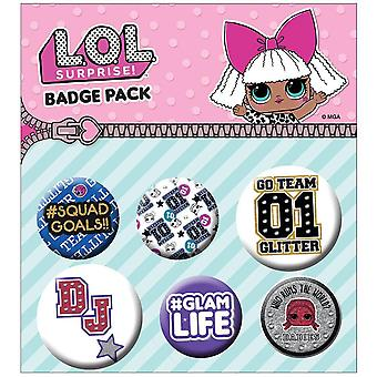 LOL surprise bouton badge Set (Pack de 6)
