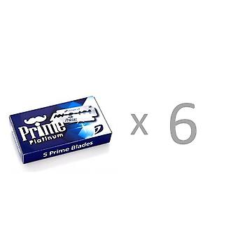 30 (6x5) Dorco Prime Platinum Double Edge Razor Blades for Safety Razor Double Edge Safety Razor,