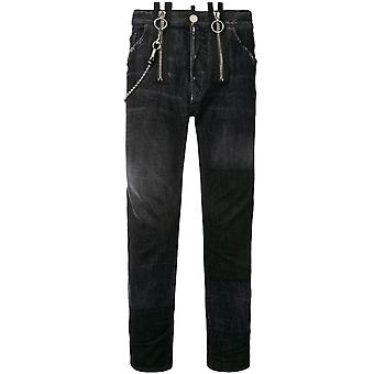 Dsquared2 Buckle Skater Jeans Black
