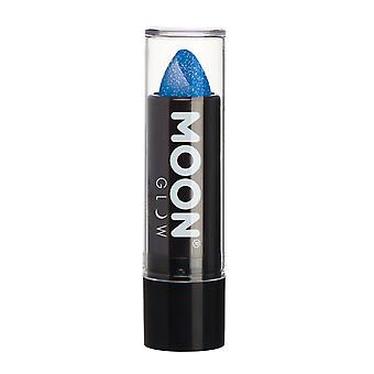 Moon Glow - 5g Neon UV Glitter Lipstick - Blue - Glows brightly under UV lighting