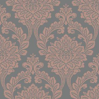 Arthouse Exclusive Astoria slät damask mönster skimmer metallic tapeter 901708