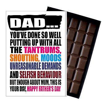 Funny Father's Day Gift Silly Chocolate Present Rude Card For Dad DADIYF127