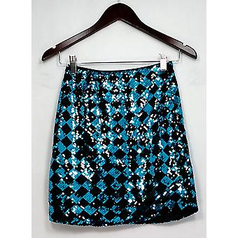 Ottimill Skirt All Over Sequined w/ Side Zipper Closure Black