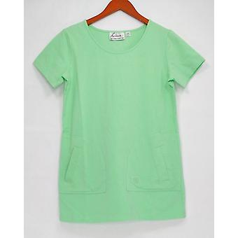 Linea por Louis Dell ' Olio mulheres ' s Top XXS patch Pocketed verde A255145