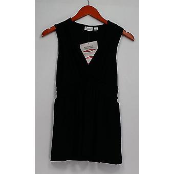 Kvinder med kontrol top XXS Cap ærmeløs Jersey sort A263914