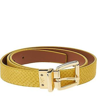 Isaac Mizrahi Live! Reversible Leather Belt XS S Lemonade Lt Cog A264211
