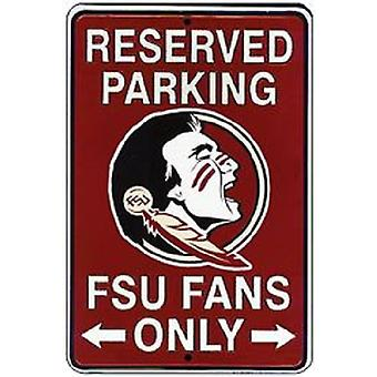 Florida State Seminoles NCAA Fans Only Reserved Parking Sign