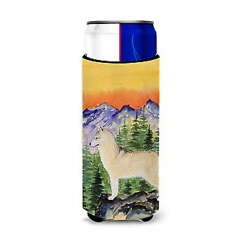 Aisladores de bebida Ultra de Husky siberiano para latas de slim SS8285MUK