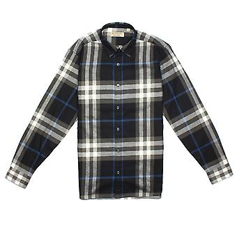 Burberry Salwick Check Flannel Shirt Noir