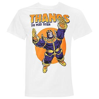 Thanos The Mad Titan White Men's Camiseta