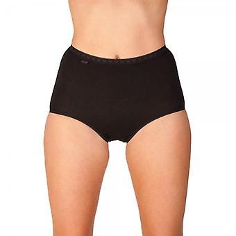 Camille Womens Black Pack tre cotone Maxi Slip