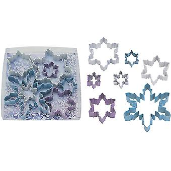 Sett med 7 Snowflake Cookie Cutters til jul