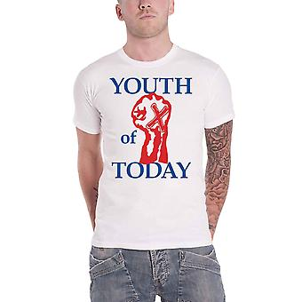 Youth Of Today T Shirt Fist Band Logo new Official Mens White