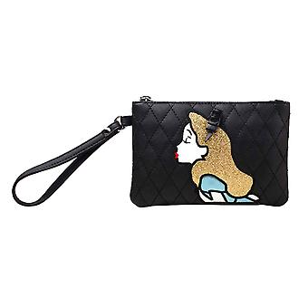 Alice in Wonderland Purse Pouch curiouser and curiouser Official Disney Black