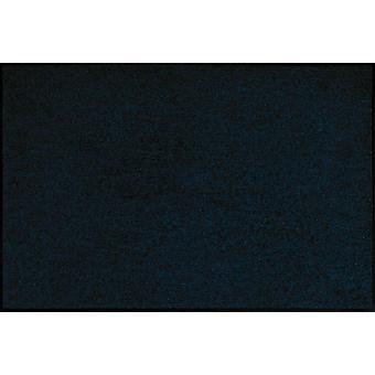 Salon Leeuw wasbaar vloer mat zwart blauw vuil overlapping pad 115 x 175 cm
