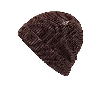 Volcom Sweep Lined Beanie in Black Red