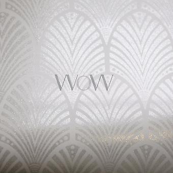 Gatsby Art deco glitter wallpaper-duif grijs en wit-Holden decor 65251