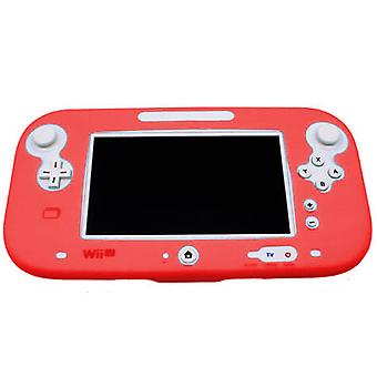Protective silicone cover for wii u gamepad soft bumper cover - red