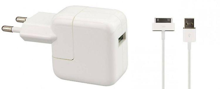 Original Apple MD836ZM/A Power Supply 12W, Travel Charger A1401, Charging Cable MA591G/C, iPad 2 iPad3, iPhone 4 4S
