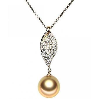 Luna-Pearls South Sea Beads Pendant with Diamonds AH31