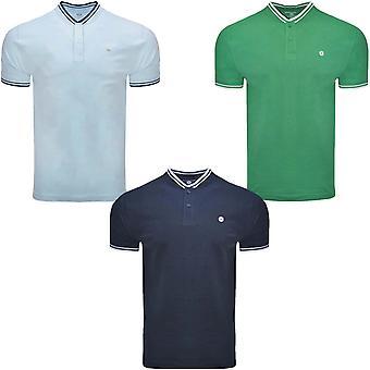 Lambretta Herren Vintage Baseball regelmäßige Fit Kurzarm Baumwolle Polo Shirt
